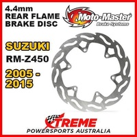 MOTO MASTER MX 4.4mm REAR FLAME BRAKE DISC ROTOR SUZUKI RMZ450 RM Z450 2005-2015