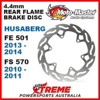 MOTO MASTER 4.4mm REAR FLAME BRAKE ROTOR HUSABERG FE 501 13-2014 FS 570 10-2011