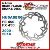 MOTO MASTER MX 4.4mm REAR FLAME BRAKE DISC ROTOR HUSABERG 450 FE 450 FX 09-2014