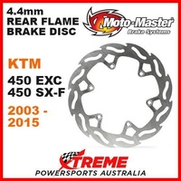 MOTO MASTER MX 4.4mm REAR FLAME BRAKE DISC ROTOR KTM 450SXF 450EXC 2003-2015