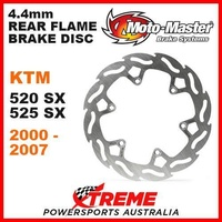 MOTO MASTER MX 4.4mm REAR FLAME BRAKE ROTOR KTM 520SX 525SX 520 525 SX 2000-2007