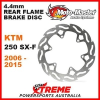 MOTO MASTER MX 4.4mm REAR FLAME BRAKE ROTOR KTM 250 SXF 250SXF 4 STROKE 06-2015