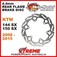 MOTO MASTER MX 4.4mm REAR FLAME BRAKE ROTOR KTM 144SX 150SX 144 150 SX 2008-2015