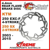MOTO MASTER MX 4.4mm REAR FLAME BRAKE ROTOR KTM 250 EXCF 250 SX 2T 2003-2015