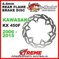 MOTO MASTER 4.4mm REAR FLAME BRAKE DISC ROTOR KAWASAKI KX450F KXF450 2006-2015