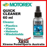 MOTOREX 60ML QUICK CLEAN CLEANER SPRAY INSECT STAIN DIRT VISOR HELMET PLASTICS