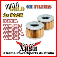 2 PACK MOTO GOLD OIL FILTER HONDA TRX400 TRX500 TRX650 TRX680 OF1 KN111 ATV MX