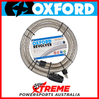 Oxford Security 1.8m x 25mm Silver Revolver Armoured Cable Lock MX Motorcycle