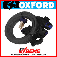 Oxford Security 1.8m x 12mm Smoke Cable Lock MX Motorcycle Bike