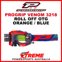 Adult ProGrip MX Venom 3218 OTG Roll Off Goggles Orange Blue No Fog Lens 3218AAF