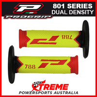Progrip 788 Triple Density Extra Slim Red/Fluro-Yellow/Black Grips MX Dirt Bike