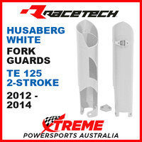 Rtech Husaberg TE125 2012-2014 White Fork Guards Protectors