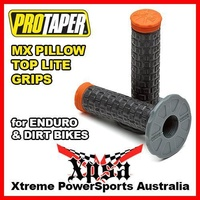 ProTaper Pillow Top Lite Grips Grey/Black/Orange MX Motocross Dirt Bike 024888