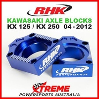 RHK MX AXLE BLOCK KIT BLUE KAWASAKI KX 125 250 KX125 KX250 2004-2012 MOTO BIKE