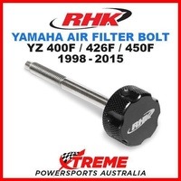 RHK MX BLACK AIR FILTER BOLT YAMAHA YZ400F YZ426F YZ450F YZF 400 426 450 98-2015