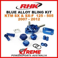 RHK MX BLUE ALLOY BLING KIT KTM SX SXF 125 250 350 450 505 2007-2012 DIRT BIKE