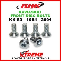 RHK MX FRONT HEAVY DUTY BRAKE DISC BOLT SET KAWASAKI KX80 KX 80 1984-2001 MOTO