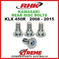 RHK MX REAR HEAVY DUTY BRAKE DISC BOLT SET KAWASAKI KLX450R KLX 450R 2008-2015