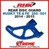 RHK MX ALLOY REAR DISC GUARD BLUE HUSQVARNA TE FE 250 350 450 501 2014-2015 MOTO