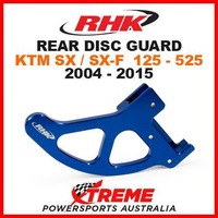 RHK MX ALLOY REAR DISC GUARD BLUE KTM SX SXF 125 250 350 450 505 525 2004-2015