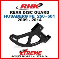 RHK MX ALLOY REAR DISC GUARD BLACK HUSABERG FE250 FE350 FE450 FE501 2009-2014