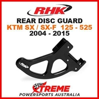RHK MX ALLOY REAR DISC GUARD BLACK KTM SX SXF 125 250 350 450 505 525 2004-2015