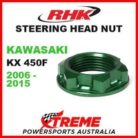 RHK MX STEERING HEAD STEM NUT GREEN KAWASAKI KX 450F KX450F KXF 450 06-2015 MOTO