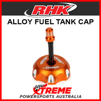RHK Husqvarna CR50 CR 50 ALL Orange Alloy Fuel Tank Gas Cap, 50mm ID