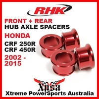 RHK REPLACEMENT AXLE SPACER FRONT + REAR CRF250R CRF 250R CRF450R 450R 02-15 RED