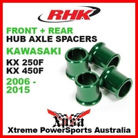 RHK REPLACEMENT HUB AXLE SPACER FRONT REAR KXF 250 450 KX250F KX450F 06-15 GREEN