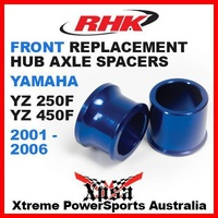 RHK REPLACEMENT AXLE SPACER FRONT YAMAHA YZF 250 450 YZ250F YZ450F 01-2006 BLUE