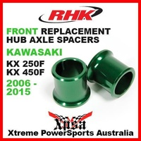 RHK REPLACEMENT HUB AXLE SPACER FRONT KXF 250 450 KX250F KX450F 2006-2015 GREEN