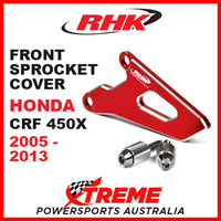 RHK Honda CRF450X CRF 450X 2005-2013 Front Alloy Sprocket Cover Red