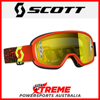 Scott Buzz Black/Yellow Goggles With Yellow Chrome Lens Motocross Dirt Bike