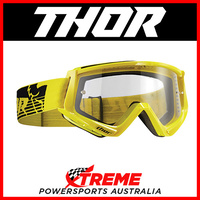 Thor Conquer Yellow/Black Goggles With Clear Lens MX Eyewear Motocross Bike Pro