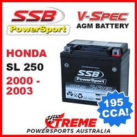 SSB 12V V-SPEC DRY CELL AGM 195 CCA BATTERY HONDA SL250 SL 250 2000-2003 TRAIL