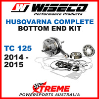 Wiseco Complete Bottom End Kit Husky TC125 14-15 Crankshaft Gasket Bearing Seals