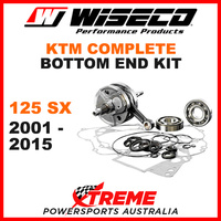 Wiseco Complete Bottom End Kit KTM 125SX 2001-2015 Crank Gaskets Bearings Seals