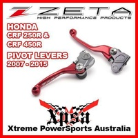 ZETA PIVOT LEVER CLUTCH & BRAKE SET HONDA CRF 250R 450R 07-2015 RED MX GENUINE