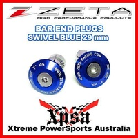 ZETA 29mm BLUE BAR END PLUGS PLUG SWIVEL HANDLEBAR GRIP CAPS DIRT BIKE MX