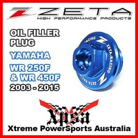 ZETA OIL FILLER PLUG BLUE YAMAHA WR 250F 450F WR250F WR450F 2003-2015 MX GENUINE