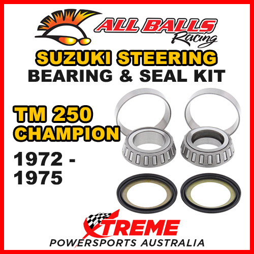 22-1005 Suzuki TM250 Champion 1972-1975 Steering Head Stem Bearing Kit