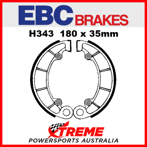 EBC Rear Brake Shoe Honda VF 750 CH 1987 H343