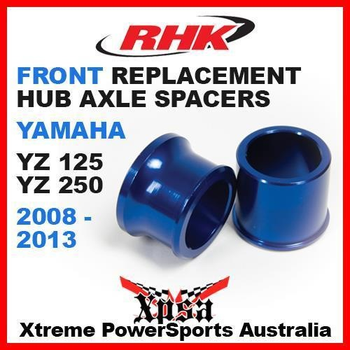 RHK REPLACEMENT AXLE SPACER FRONT YAMAHA YZ125 YZ250 YZ 125 250 2008-2013 BLUE