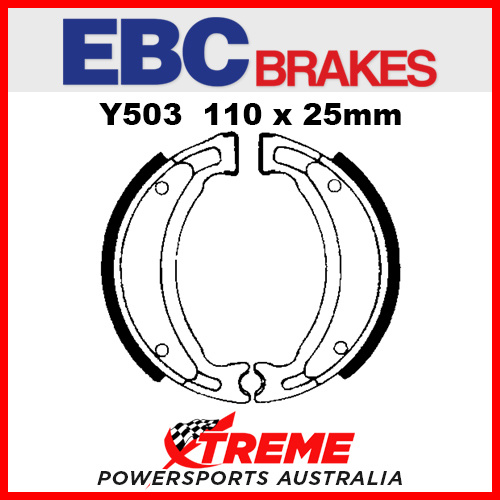 EBC Rear Brake Shoe Yamaha CW 50 RSP 1997-1998 Y503